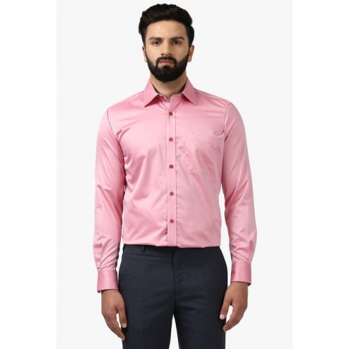 16b476c8693 Buy Raymond Pink Full Sleeves Contemporary Fit Shirt online ...
