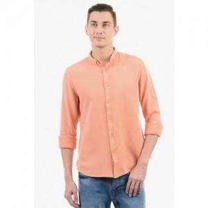 Pepe Jeans Orange Cotton Blend Shirt