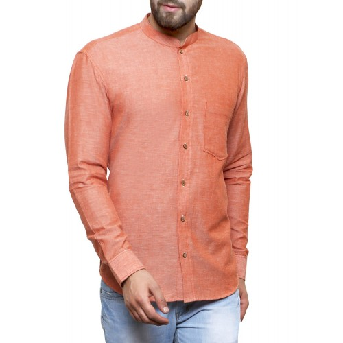 Zotw orange cotton casual shirt