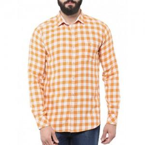 SPEAK orange cotton casual shirt