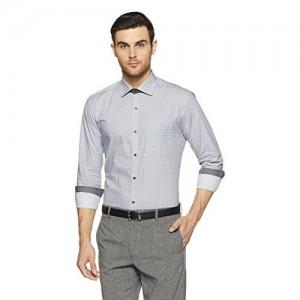 Park Avenue Men's Printed Slim Fit Formal Shirt