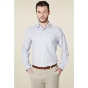 4b55581b564 Peter England Light Grey Full Sleeves Shirt. ₹999 Tatacliq