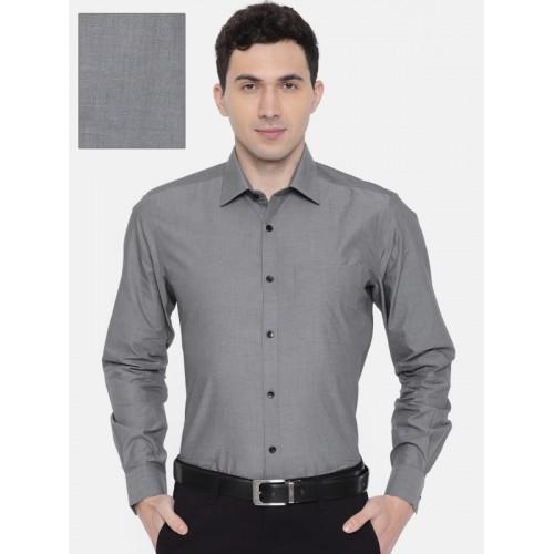6d9717a91ab Raymond Men Grey Contemporary Fit Self-Design Formal Shirt .