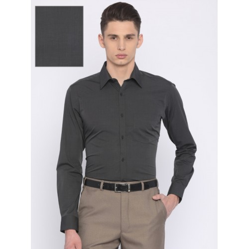 832a0929 Buy Park Avenue Charcoal Grey Slim Fit Solid Formal Shirt online ...