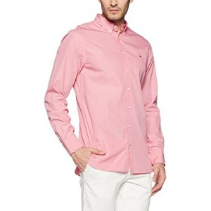 Tommy Hilfiger Pink Cotton Casual Shirt