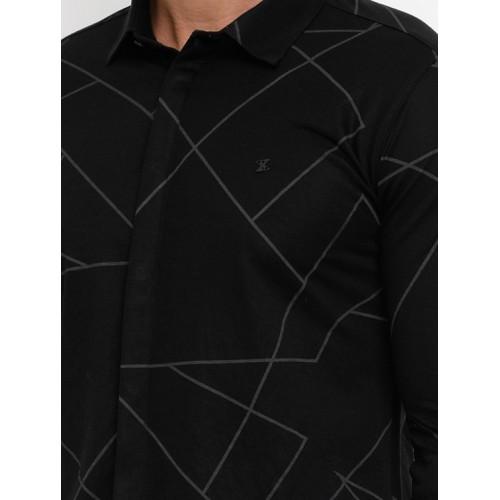 SHOWOFF black cotton casual shirt