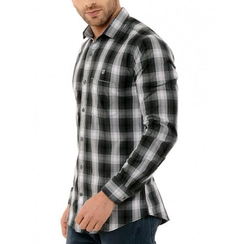 SPEAK black cotton casual shirt