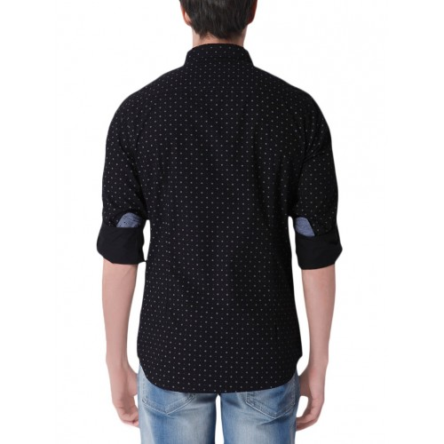 URBAN SCOTTISH black cotton casual shirt