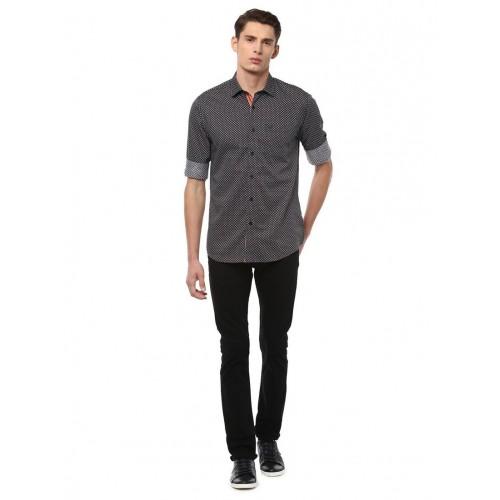 Allen Solly black cotton casual shirt
