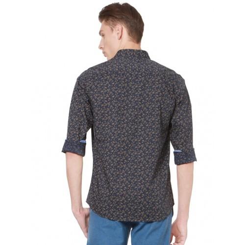 Allen Solly navy blue cotton casual shirt