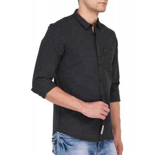 Crosscreek black cotton casual shirt