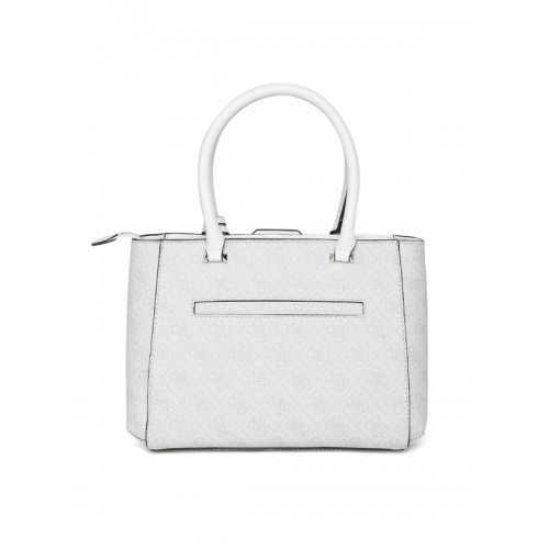 b6a599809d Buy GUESS Grey   Off-White Printed Handheld Bag with Sling Strap ...
