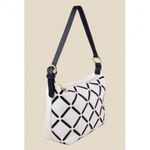 Hidesign White Leather Shoulder Bag