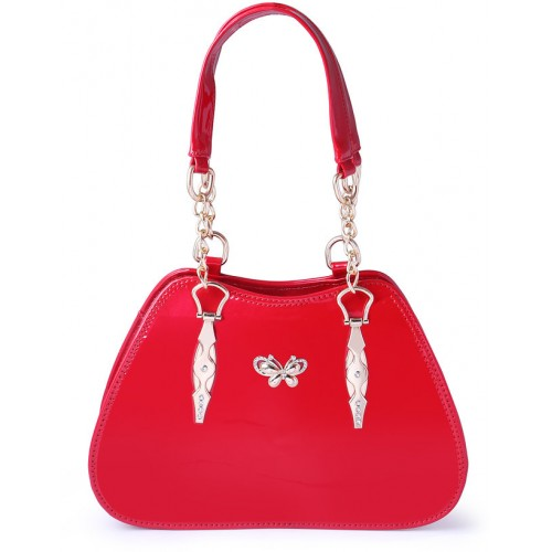 bac54f2a8e ... Louise Belgium Women s and Girl s Fashionable   Durable Spacious Multi  Compartments Designer Handbag   Red ...