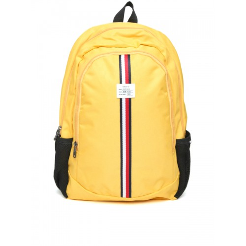 129783b1853 Buy Tommy Hilfiger Yellow Unisex Laptop Backpack online | Looksgud.in
