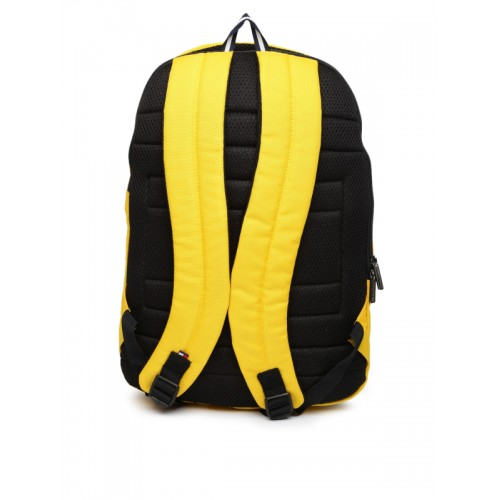 4bc32ed3bf6 ... Tommy Hilfiger Unisex Yellow & Black Colourblocked Backpack ...