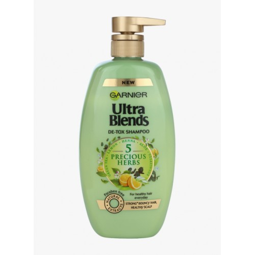 Garnier Ultra Blends 5 Precious Herbs Shampoo, 640Ml