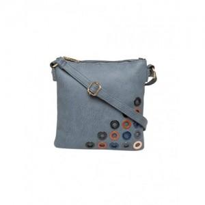 SATCHEL Bags grey leatherette regular sling bag