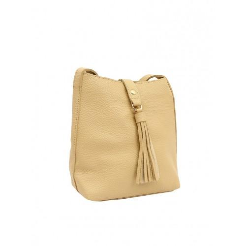 bbdf90bf4d9 Buy Pepgirls beige leatherette regular sling bag online
