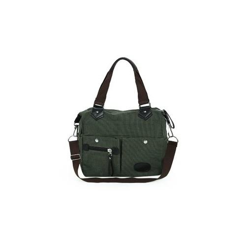 ... Large Capacity Women Casual Style Canvas Tote Belt Decoration Shoulder  Bag ... 845b4d202a
