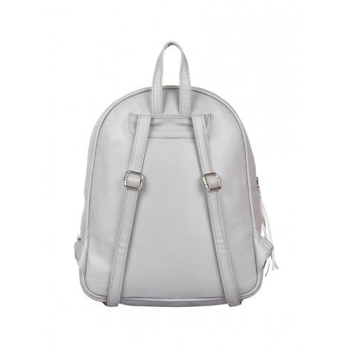 lychee bags grey leatherette (pu) fashion backpack