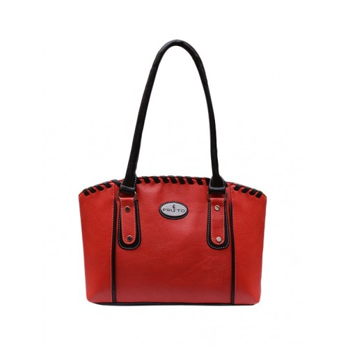 Fristo red leatherette regular handbag