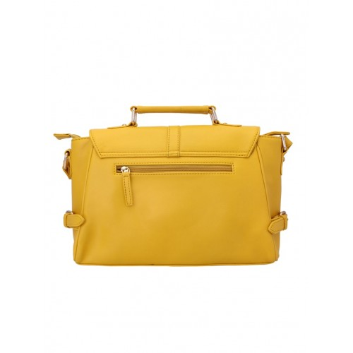 Lapis O Lupo yellow leatherette  regular handbag