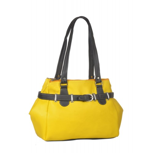 FOSTELO yellow leatherette  handbag