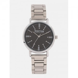 5f4d7747a REACTION KENNETH COLE Women Black   Silver-Toned Embellished Analogue Watch  RK50104005