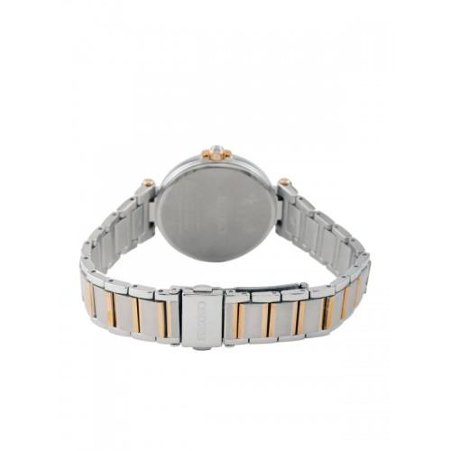 SEIKO Solar Women Silver-Toned Dial Watch SUT156P1
