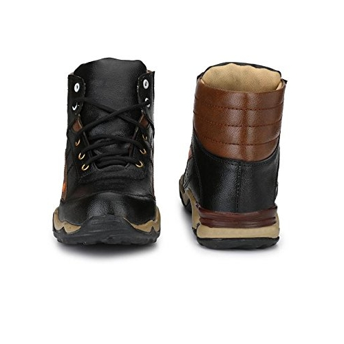 Big Fox K11 Black Synthetic Lace Up Mid Ankle Boots