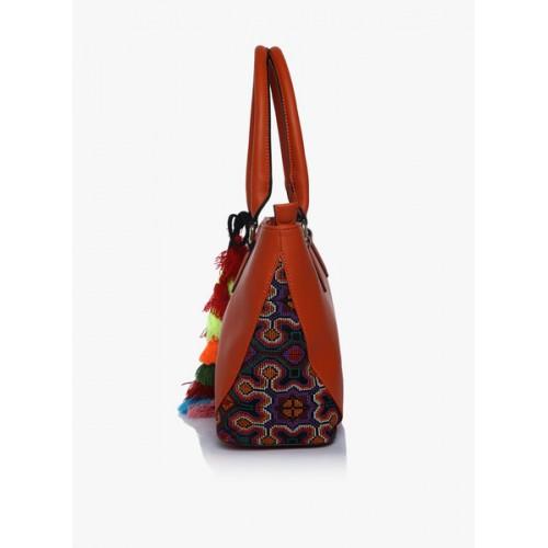 Global Desi Cuckoos Burnt Orange Large Tote Bag