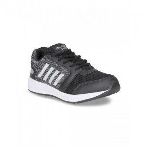 Columbus TB-351-BlackSilver-6 Men Black Running Shoes