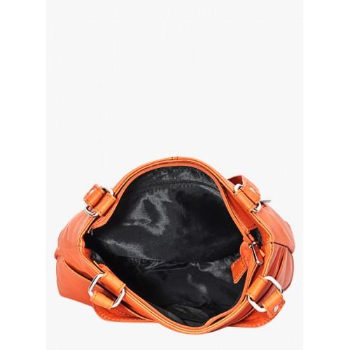 Bagsy Malone Orange Polyrethane Pu Handbag