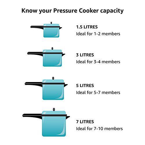 Prestige Nakshatra Plus Hard Anodised Inner Lid Aluminium Pressure Handi, 3 Litres, Black