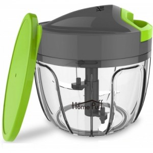 Home Puff 650 ml - 3 Blades Vegetable Chopper, Cutter With Storage Lid Vegetable & Fruit Chopper