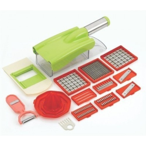 Swarish Ritu 12 in 1 Multipurpose Vegetable & Fruit Cutter Slicer Grater With Unbreakable Container Chopper