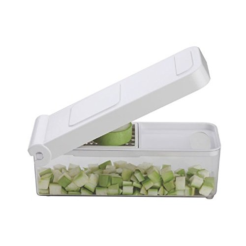 Nestwell Vegetable & Fruit Cutter Chopper with Deluxe 1 Blade Unbreakable Plastic Cutter