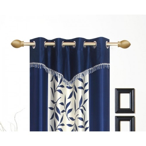 Ville Style Polyester Window Curtain 153 cm (5 ft) Pack of 2