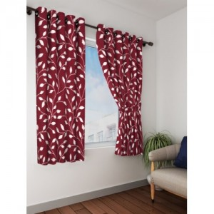 Bombay Dyeing Polyester Window Curtain 153 cm (5 ft) Pack of 2