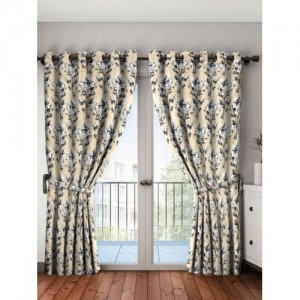 Bombay Dyeing Polyester Door Curtain 214 cm (7 ft) Pack of 2