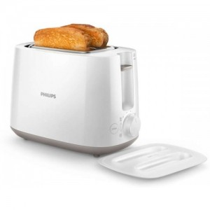 Philips HD2582 With Integrated Bun Warming Rack 830 W Pop Up Toaster