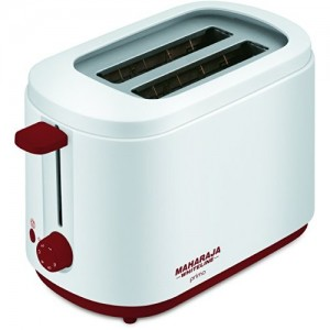 Maharaja Whiteline Primo Pop Up 750-Watt Pop Up Toaster (Red and White)