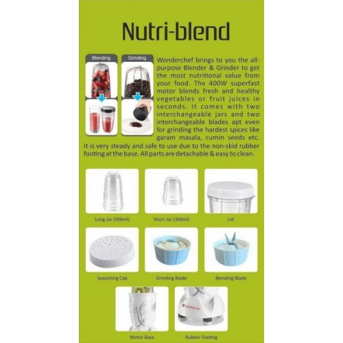 Wonderchef Nutri Blend 400 Juicer Mixer Grinder