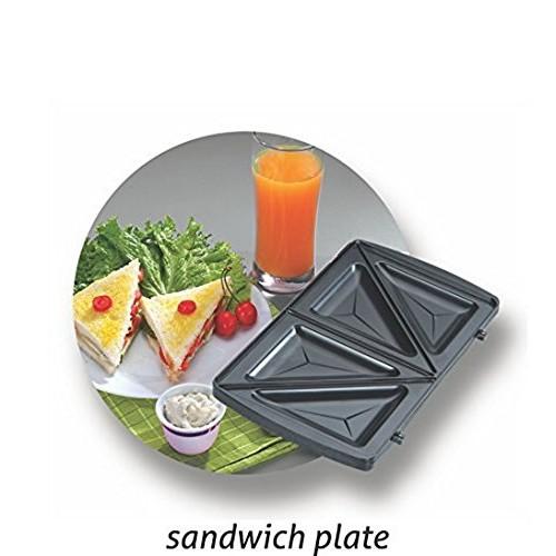 Nova NSM 2403 750-Watt 3-in-1 Sandwich Maker (Black/Grey)