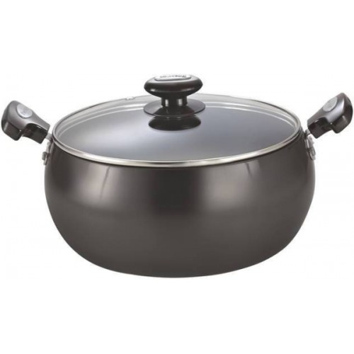 Prestige Hard Anodised Black Aluminium Cookware Lifetime Induction Base Sauce Pan, 200mm
