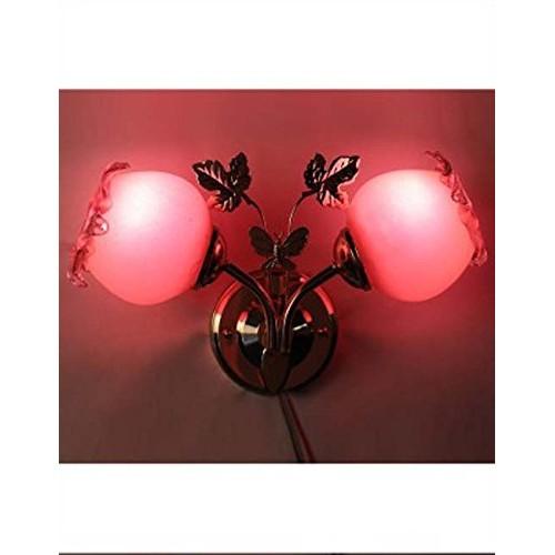 Somil Wall1light-RI1 100-Watt Sconce Decorative Wall Light (Pack of 2, Pink, Round)