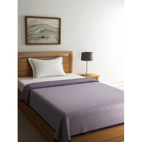 Raymond Home Purple Printed Woollen Single Blanket