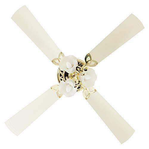 Crompton Metal Uranus 48-Inch Ceiling Fan With Decorative Lights (Ivory)