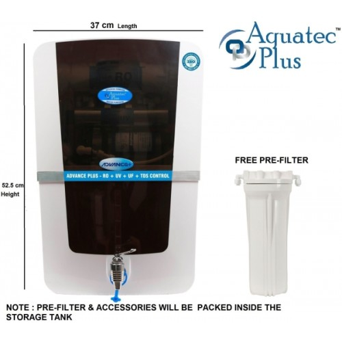 Aquatec plus Advance plus 12 L RO + UV + UF + TDS Water Purifier